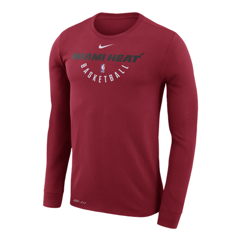 Nike Miami HEAT Youth Long Sleeve Practice Tee