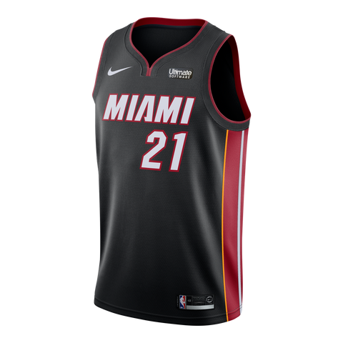 Hassan Whiteside Nike Miami HEAT Youth Icon Black Swingman Jersey