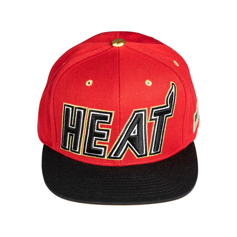 Mitchell & Ness Gold Tip Red Snapback
