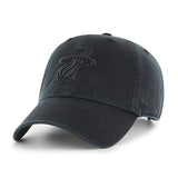 '47 Miami HEAT Black Cleanup Adjustable Cap - 1