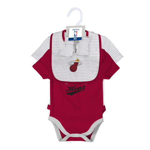 Miami HEAT 2 Piece Creep Bib & Bootie