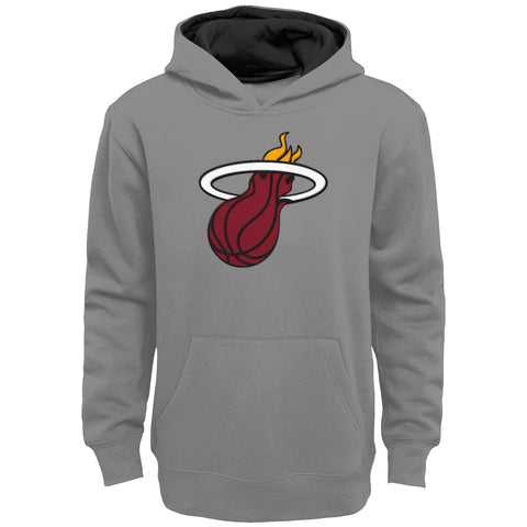Miami HEAT Pullover Youth Grey Hoodie