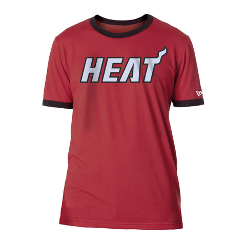New ERA Miami HEAT Ringer Tee