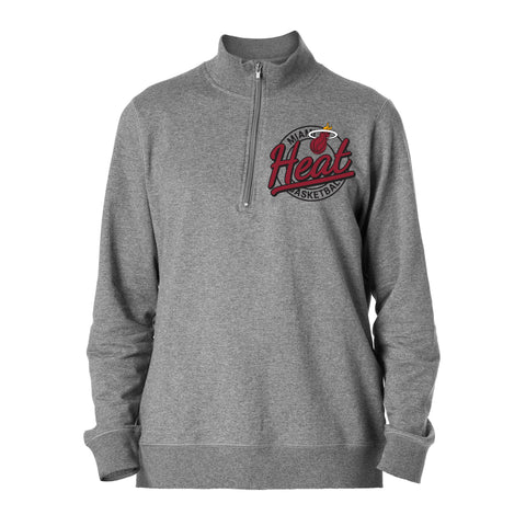 New ERA Miami HEAT Half Zip French Terry Pullover