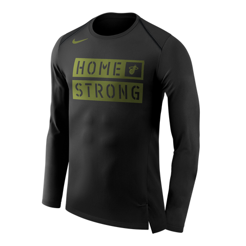 Nike Miami HEAT Long Sleeve Home Strong Tee