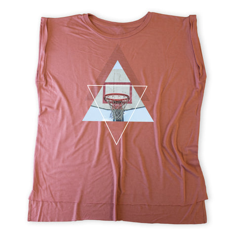 Court Culture Ladies Geometric Rolled Cuff Tee