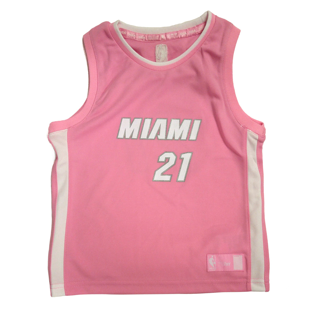 Hassan Whiteside Miami HEAT Girls Pink Jersey - featured image