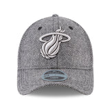 New ERA Miami HEAT Tweed Black Label Fitted Hat - 1