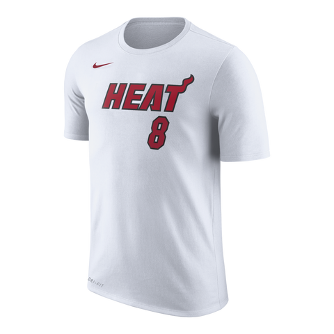Tyler Johnson Nike Miami HEAT White Name & Number Tee