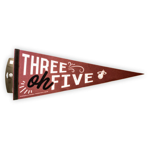 Court Culture THREE OF FIVE PENNANT
