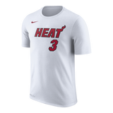 Dwyane Wade NIKE Miami HEAT White Name & Number Tee - 1