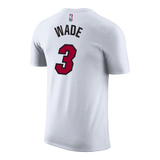Dwyane Wade NIKE Miami HEAT White Name & Number Tee - 2