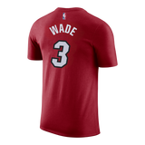 Dwyane Wade Nike Youth Red Name & Number Tee - 2