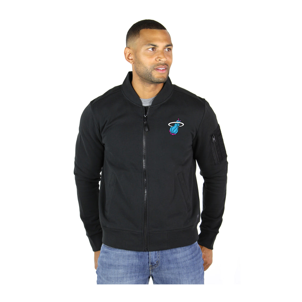 Sportiqe Miami HEAT Vice Nights Maverick Bomber Jacket - featured image