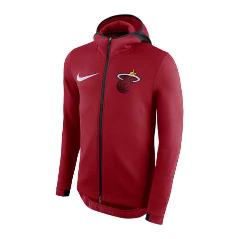 Nike Miami HEAT Thermaflex Showtime Full Zip Red Hoodie