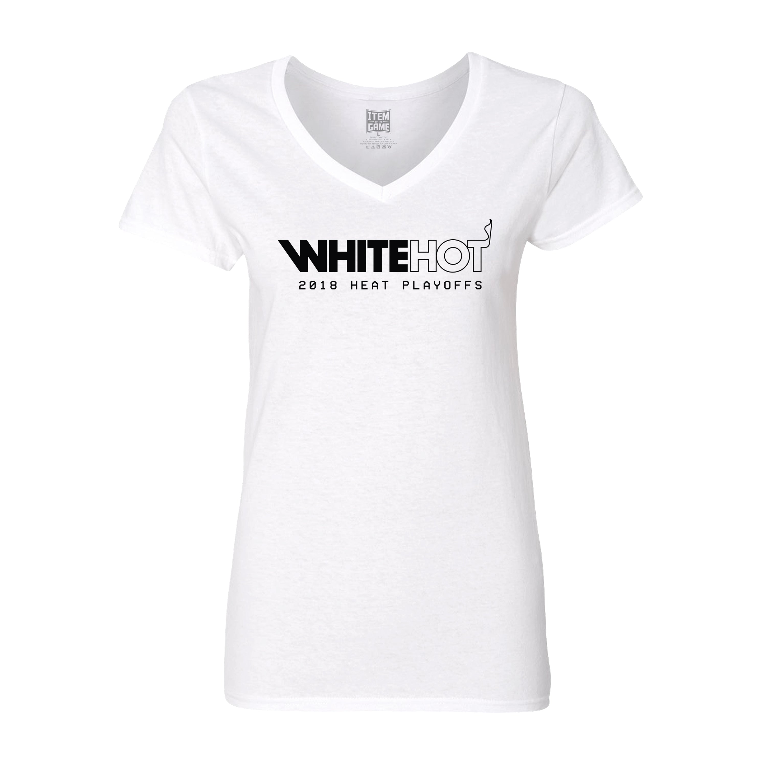 timeless design 1174f 0c23f Miami HEAT Ladies White Hot Playoff Tee