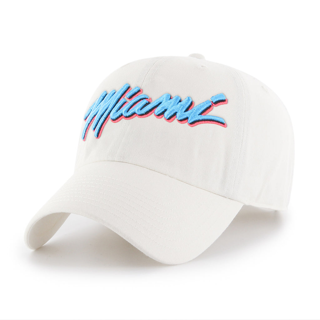 IOTG Miami HEAT Vice Nights Dad Hat White - featured image