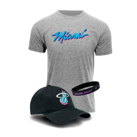 Miami HEAT Vice Nights Hat/Tee Combo Pack