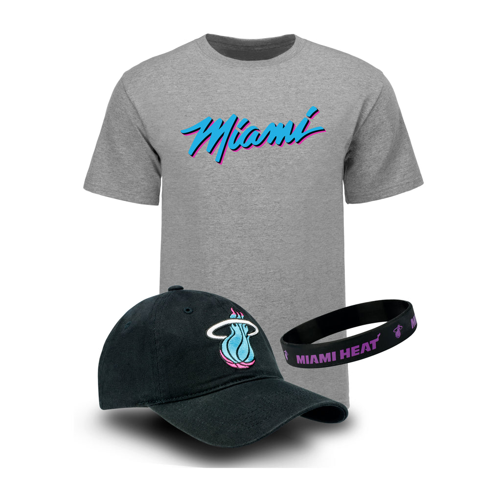 Miami HEAT Vice Nights Youth Hat/Tee Combo Pack - featured image