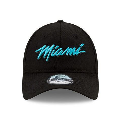 New ERA Miami HEAT Vice Nights MIAMI Script Dad Hat