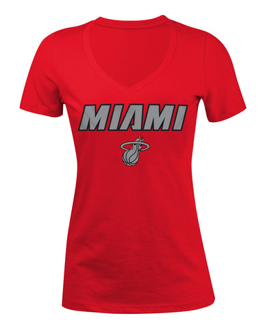 MIAMI Liquidsilver V-neck Red
