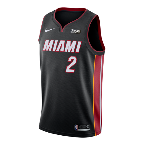 c4185f9bbefb Wayne Ellington Nike Miami HEAT Icon Black Swingman Jersey