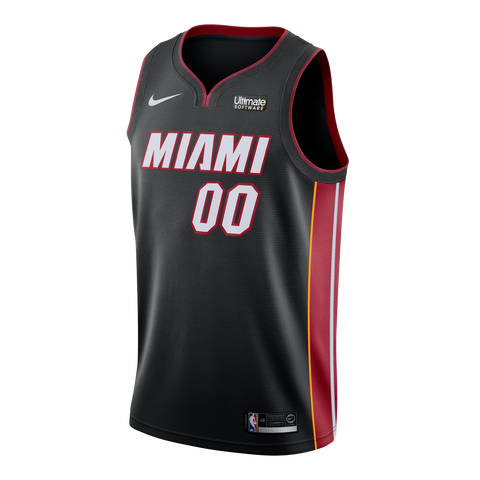 Yante Maten Nike Miami HEAT Icon Black Swingman Jersey
