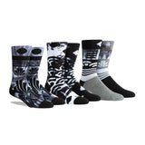 PKWY Dwyane Wade Remix Ebony & Ivory 3 Pack Socks - 1