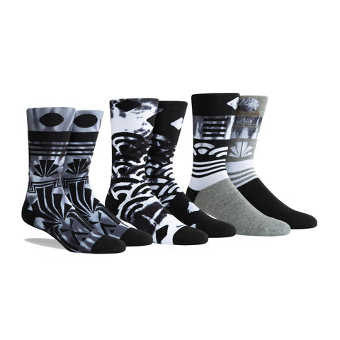 PKWY Dwyane Wade Remix Ebony & Ivory 3 Pack Socks