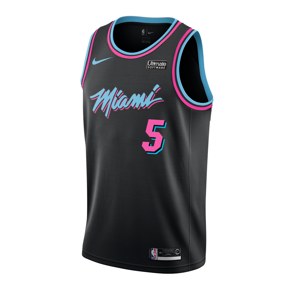 Derrick Jones Jr Nike Miami HEAT Vice Nights Swingman Jersey - featured image
