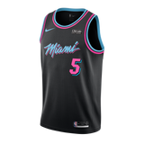 Derrick Jones Jr Nike Miami HEAT Vice Nights Swingman Jersey - 1