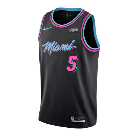 Derrick Jones Jr Nike Miami HEAT Vice Nights Swingman Jersey