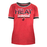 New ERA Miami HEAT Girls Scoop Triblend Tee - 1