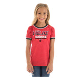 New ERA Miami HEAT Girls Scoop Triblend Tee - 2