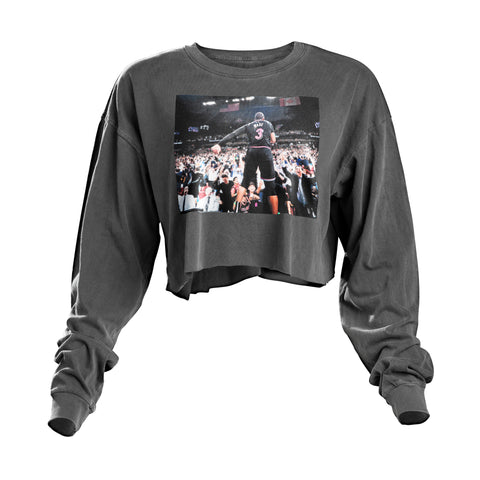 Court Culture Wade Beats Warriors Ladies Cropped Long Sleeve Moments Tee