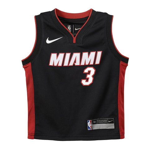 Dwyane Wade Nike Icon Black Infant Replica Jersey