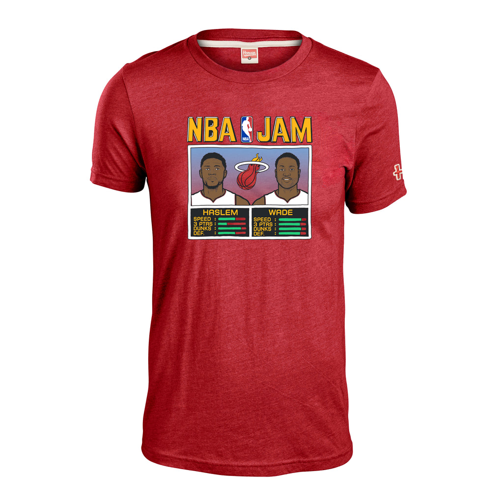 Homage Wade & Haslem NBA JAM Red Tee - featured image