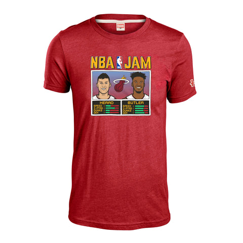 Homage Butler & Herro NBA JAM Red Tee