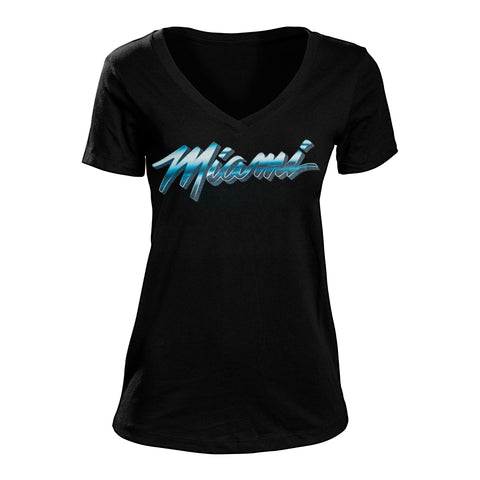 Court Culture ViceWave Chrome Miami Ladies V-Neck