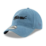 New ERA Miami HEAT Denim MIAMI Script Dad Hat - 3