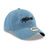 New ERA Miami HEAT Denim MIAMI Script Dad Hat - 4