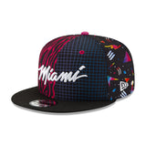 New ERA Miami HEAT Vice Nights Pattern Snapback - 3