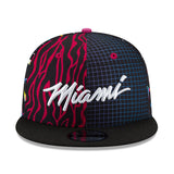 New ERA Miami HEAT Vice Nights Pattern Snapback - 1