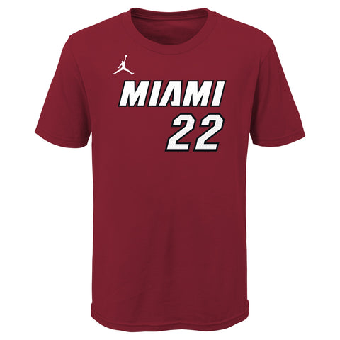 Jimmy Butler Jordan Brand Statement Red Name & Number Kids Tee