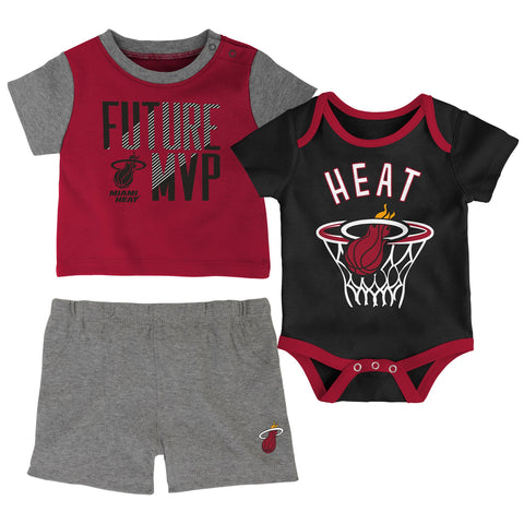 Miami HEAT 3 Piece Putting Up Numbers Infant Set