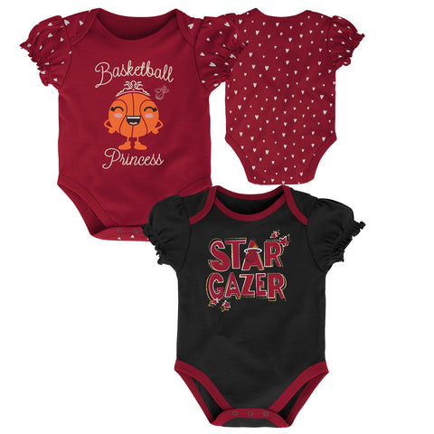 Miami HEAT Newborn Girl 2 Piece Creeper Set