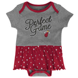 Miami HEAT Newborn Girl Creeper Bib Bootie Set - 3