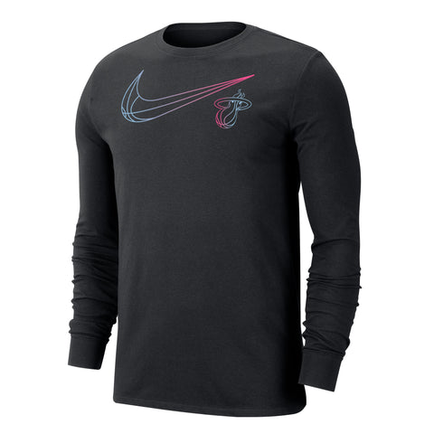 Nike ViceVersa Long Sleeve Swoosh Black Tee