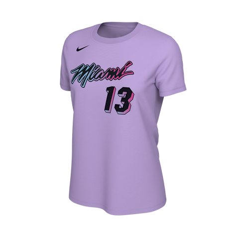 Bam Adebayo Nike ViceVersa Name & Number Ladies Tee