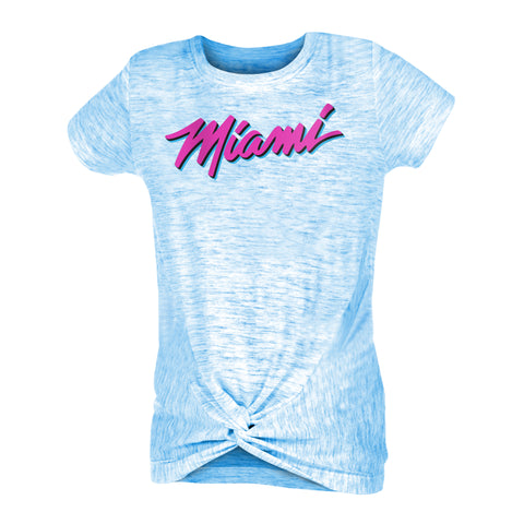 New ERA ViceWave Girls Short Sleeve Miami Front Tie Tee